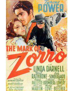 Tyrone Power Mask Of Zorro Reprint Movie Poster 27x40