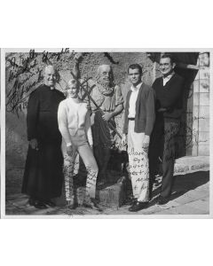 Monkeys Go Home Vintage 8X10 photo signed by Yvette Mimieux, Dean Jones, Maurice Chevalier, and Andrew McLaglen (personalized to Eylla)