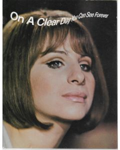 On a Clear Day You Can See Forever (1970) original movie program