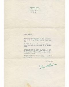 Pat O'Brien (1899-1983) vintage signed letter w/envelope