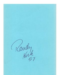 Randy Kirk 49ers signed album page/card
