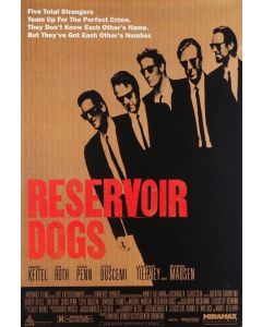 """Private Signing """"Harvey Keitel Reservoir Dogs 27x40 Full Size Movie Poster"""""""