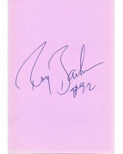 Roy Barker 49ers signed album page/card