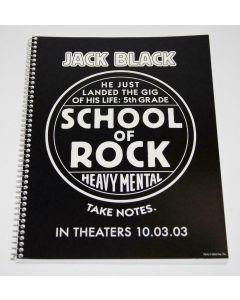 Jack Black School of Rock promo notebook