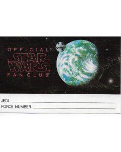 Star Wars Fan Club Membership Card