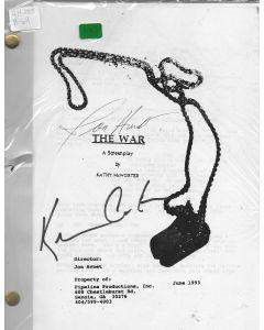 The War 1994 original script signed by Kevin Costner and Jon Avnet