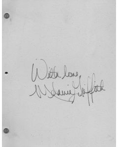 Working Girl 1988 original script signed by Melanie Griffith